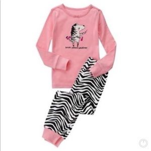 Gymboree Zebra 🦓 Pajamas Girls PJ Set
